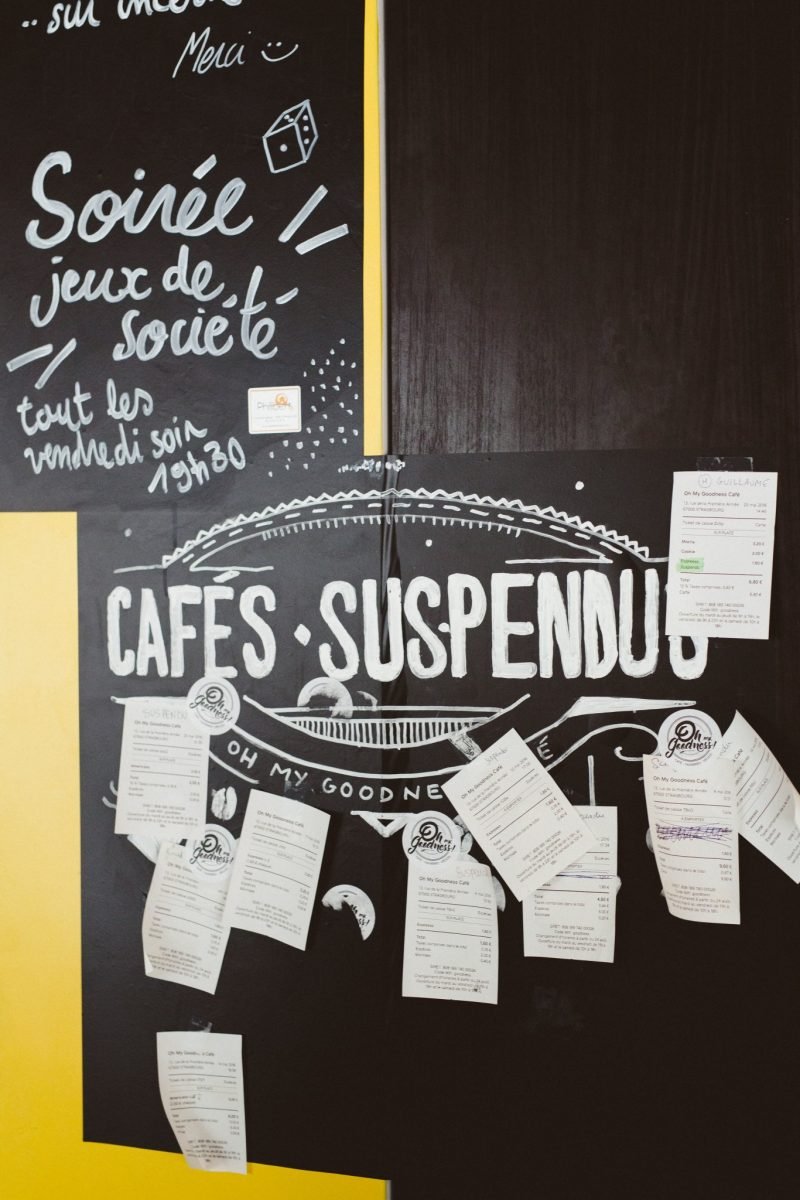 Cafés suspendus Oh My Goodness