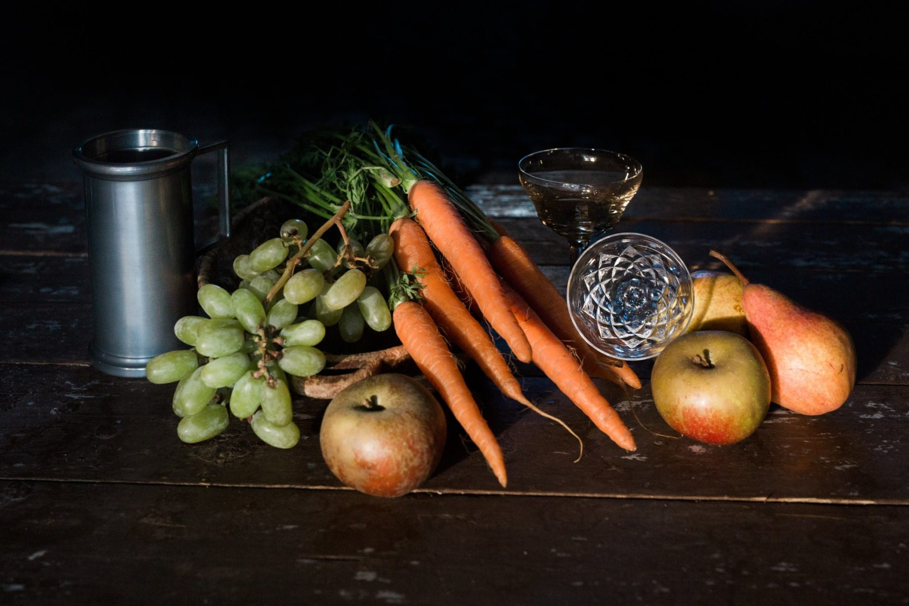 Nature morte carottes